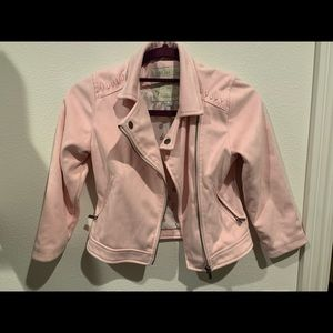 Other - 3Pommes Pink Suede Jacket